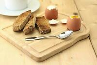 Breakfast Board Serving Tray Cheese With Egg Holders Cup Toast Shape Rubberwood