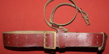 WWII WW2 German Military Leather Belt With Strap