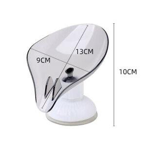 Suction Cup Soap Dish Holder Rotatable Bathroom Soap Box Draining Kitchen Ra TM
