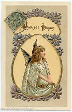 MAGNIFIQUE ANGE. BEAUTIFUL ANGEL. ART NOUVEAU. MODERN STYLE. DORURE GILDING