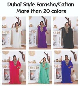 Dubai Style Women Kaftan Caftan Farasha Abaya Maxi Dress Kimono Beach Cover Up A