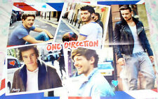 ONE DIRECTION 1D  / THE SIMPSONS BEAUTIFUL GLOSSY GERMAN FOLD OUT POSTER 2013