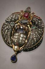 Antique/Vintage Look 9.90CT Rose Cut Diamond 925 Silver Pendant/Brooch