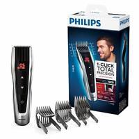 Philips HC7460/15 - Cortapelos con cuchillas de acero inoxidable, 3 peines-guía