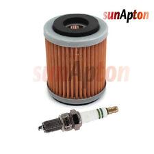 Spark Plug Oil Filter For YAMAHA Big Bear 350 WARRIOR RAPTOR 89-13 Tune Up Kit