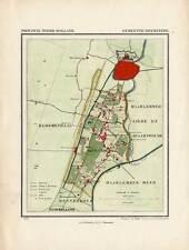 Antique Map-NETHERLANDS-TOWN PLAN-HEEMSTEDE-NOORD HOLLAND-Kuyper-Kuijper-1865