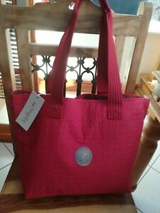 Kipling large red tote bag new with tags