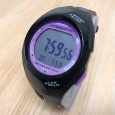 Casio PHYS STR-300 Pink Black LCD Digital Alarm Chrono Watch Hours~New Battery