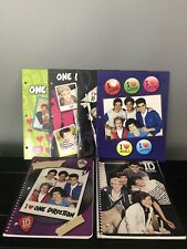 One Direction 4 Pocket Folders 3-Hole Punched And 2 Notebooks