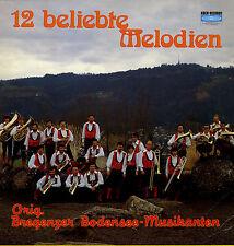 LP  12 beliebte Meldodien - Original Bregenzer Bodensee-Musikanten