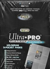 (100) 9-POCKET TRADING CARD SIZE ULTRA-PRO PLASTIC SHEETS / PAGES