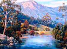 """Counted Cross Stitch Kit """"Australian Landscape"""" by Andrea's Designs"""