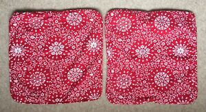 Pair 2 x Ikea Cushion Covers Red Pattern Cotton Alvine Krans 20643 Wilj