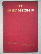 1899 Link Belt Company Mexican / Spanish  MILL MACHINERY Catalog Booklet