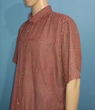The North Face Short Sleeve Plaid Camping Outdoors Shirt Size XL XLarge (A9)