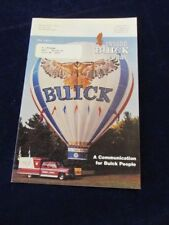 Vtg 1984 Inside Buick Today 12pg Employee Newsletter Brochure Q521