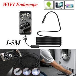 8 LED WIFI Endoscope Camera Wireless Borescope Inspection for Phone Android UK