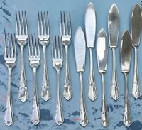 DUBARRY 12PCE FISH KNIVES & FORKS SET FOR 6 EPNS SILVER PLATE SHEFFIELD ENGLAND