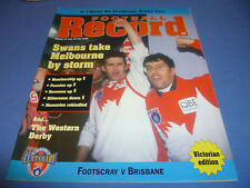 1996 AFL Football Footy Record Rnd 16 Brisbane Def Footscray Rare Crowd 9,000