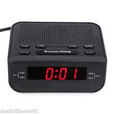 CRÈME - 246 FM Affichage Numérique LED Radio-réveil Double Mode Snooze PRISE EU