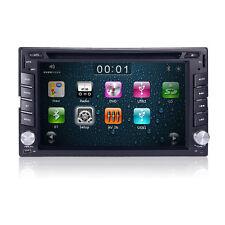 Universal 2 Din Touch Screen Car DVD Player GPS Nav Radio Stereo Bluetooth SWC