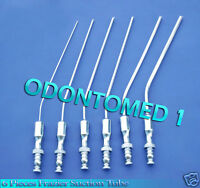 6 Pieces Frazier Suction Tube 5,7,8,9,11,12 Fr Angled