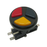 Arcade Game Triple Color 3 In 1 Push Button With 3 Micro-switch For Jamma MAME