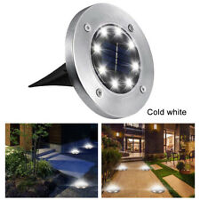 16 LED Solar Power Buried Disk Light Ground Garden Lawn Outdoor Waterproof Lamp