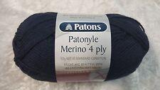 Patons Patonyle Merino 4 Ply #1002 Navy Sock Yarn 50g