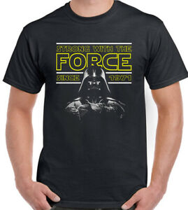 50th Birthday T-Shirt Strong With The Force Since 1971 50 Year Old Tee Top Retro