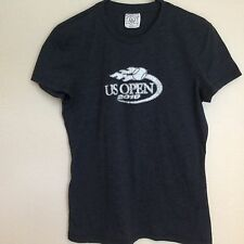 US Open Women's Tee Size XL Extra-Large Solid Gray Cotton Blend Short Sleeve