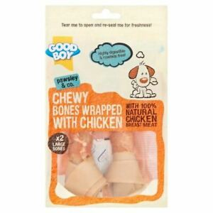 Good Boy Pawsley Chewy Bones Wrapped With Chicken Dog Treats Reward Large 2pk