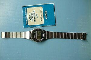 DDR ruhla Quarz-Herrenarmband Uhr Kaliber 16-01 mit Gebrauchsanleitung