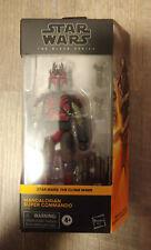 "MANDALORIAN SUPER COMMANDO Hasbro Star Wars Black Series 6"" Walmart Figure MIB"