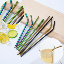 304 Stainless Steel Drinking Straws Striped Birthday Wedding Party Decoration AU