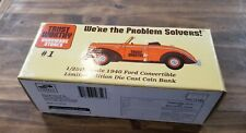 LIBERTY CLASSIC TRUST WORTHY 1940 FORD CONVERTIBLE DIE CAST COIN BANK 1:25 SCALE