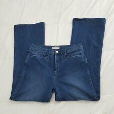 Madewell Jeans Womens Sz 31 Flea Market Flare Medium Wash Distressed A30