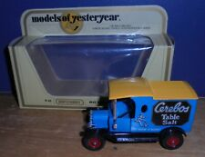 Matchbox Yesteryear Y12 Model T Ford Van Cerebos Yellow Roof with Chrome Issue 2