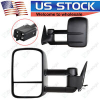 For 88-98 Chevy C/K C10 1500 - 3500 POWER Towing Camper Side Towing Mirrors PAIR