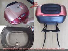 valigia baule bauletto Givi Simply rosso E450 con piastra cuscino Givi E450R301