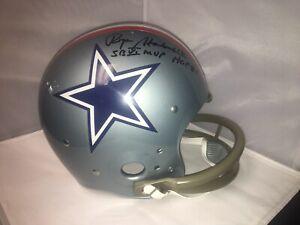 Roger Staubach Signed Dallas Cowboys 1976 TK Suspension Helmet HOF MVP Beckett