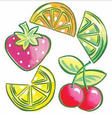 WALLIES FRUIT wall stickers 25 prepasted cutouts cherry lemon lime strawberry