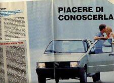 W28 Ritaglio Clipping 1985 nuova gamma Fiat Uno