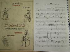 Noten - 21 Barock-Hits für Cello - zweistimmig