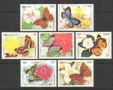 Cambodia 1991 Butterflies/Flowers/Insects 7v set  b8073