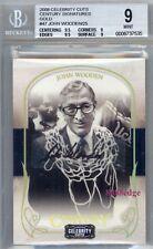 2008 Celebrity Cuts Century Auto: John Wooden #1/25 Ucla 1/1 Bgs 9 Autograph 10
