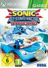 Sonic & All-Stars Racing Transformed XBOX 360 * buono * (con imballo originale)
