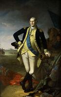 Dream-art Oil painting George Washington at Princeton On the battlefield canvas