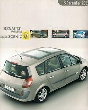 Renault Grand Scenic Price List & Options 2003-04 Dutch Market Foldout Brochure