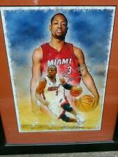 Dwayne Wade Signed Watercolor Painting! Rare!! 1 of 1!!